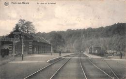 Ham-sur-Heure - La Gare Et Le Tunnel (animée, Edit. Albert Frères) - Ham-sur-Heure-Nalinnes
