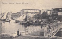 LIVORNO-DARSENA E BARRIERA DEL PORTO-CARTOLINA NON VIAGGIATA -ANNO 1915-1925 - Livorno