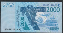 W.A.S. SENEGAL P716Ks 2000 FRANCS (20)19 2019 UNC. - West African States