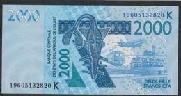 W.A.S. SENEGAL P716Ks 2000 FRANCS (20)19 2019 UNC. - Stati Dell'Africa Occidentale