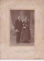Photographie Morlaix  Couple Mariage Coiffe De Morlaix Photo De Le Jeune Morlaix  ( Ref 191219) - Identifizierten Personen