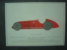 ALFA ROMEO - Collection De 13 Illustrations 31 X 22 Cm - - Car Racing - F1