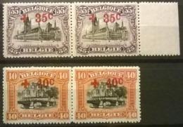 Belgium 1918 - OBP Nr 157+158 - MNH** - 1918 Red Cross