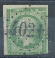 N°12 NUANCE ET OBLITERATION. - 1853-1860 Napoleon III