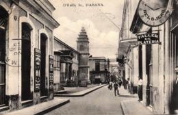 Thematiques Cuba O'Reilly St Habana  Cachet 22 12 1910 - Cartoline