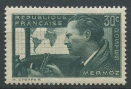 France 1937 - N° 337 - Jean Mermoz - Neuf - ** - France