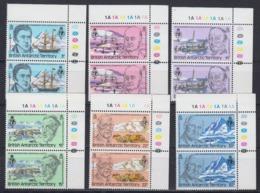 British Antarctic Territory (BAT) 1980 Royal Geographical Society 6v (pair, Corner) ** Mnh (45026) - Brits Antarctisch Territorium  (BAT)