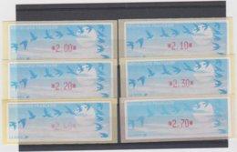 France 6 Vignettes Distributeur Type C LISA  N°YT 208 - 2.00 2.10 2.20 2.30 2.40 2.70 F - 1990 Type «Oiseaux De Jubert»
