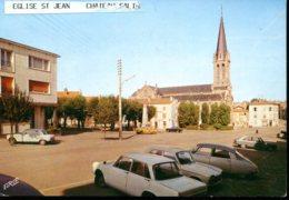 57 - Château-Salins : L'Eglise St Jean - PLace De La République - Monuments Aux Morts - Citroën DS.... - Chateau Salins