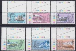 British Antarctic Territory (BAT) 1980 Royal Geographical Society 6v (margin) ** Mnh (45026A) - Brits Antarctisch Territorium  (BAT)
