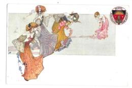 CPA ART NOUVEAU DEUTSCHER SCHUL VEREIN 1880 RONDE FEMMES FLEURS - 1900-1949