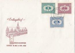 DDR - FDC 19-9-1960 - 24e Schaak-Olympiade, Leipzig - Schaken/Schach Spielen/chess - M 786-788 - Schaken