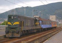 Skopje (Macedoine)  Locomotive Diesel 661 220 - Trains