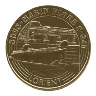 Monnaie De Paris , 2016 , Lorient , Sous-marin Flore , S-645 - Monnaie De Paris