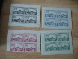 Erinnophilie Lot De 4 Bloc De 4 Poste Aerienne Exposition Philatelique Paris 1943 Couleur Differente Vignette Timbre - Otros