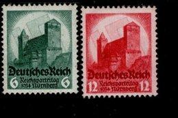Deutsches Reich 546 - 547 Reichsparteitag MNH Postfrisch ** Neuf - Nuevos