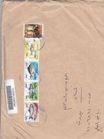 Iraq Registr.copmmercial Cover,2019,franked Compl.set Fish 2019 4 Stamps +High Value 5.000 Dinars-(No Paypal & No Skrill - Irak