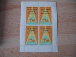 Erinnophilie   Bloc De 4  Alencon Foire Exposition 1952 Vignette Timbre - Otros