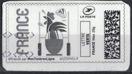 France Vignette Oblitérée Sur Fragment Used Mon Timbre En Ligne Coupe Du Monde Rugby Au Japon SU - Frankreich