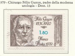 PIA - FRAN -1979 : Omaggio Al Chirurgo Félix Guyon - Padre Della Moderna Urologia  - (Yv 2052) - Malattie