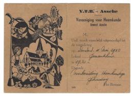 B26 - V.T.B. Assche - Vereeniging Voor Heemkunde - Uitnodiging Voor Vergadering - 1950 - Mitteilung