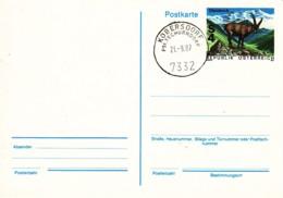 AUTRICHE : 1987 - Entier Postal (PostKard - Carte Postale) - Bouquetin - Postwaardestukken