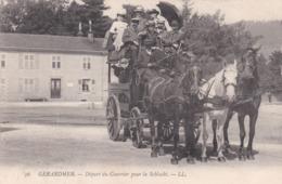 88 Gérardmer Départ Du Courrier - Gerardmer
