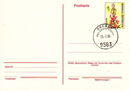 AUTRICHE : 1986 - Entier Postal (PostKard - Carte Postale) - Fleur (lis) - Postwaardestukken