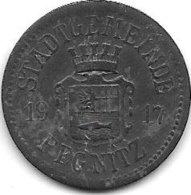 *notgeld Pegnitz 10 Pfennig  1917 Zn  1917 419.2a - [ 2] 1871-1918 : Empire Allemand