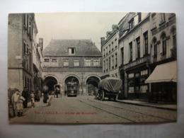 Carte Postale Lille (59) Porte De Roubaix (Petit Format Noir Et Blanc Oblitérée Timbre 5 Centimes ) - Lille