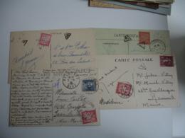 Lot 14 Lettres Taxee Timbre Chiffre Taxe Duval 30 C Rouge  Seul En Paire Obliteration Triangle Ou Autre - Marcofilia (sobres)