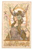 CPA ARPAD BASCH FEMMES GUERRIERES ART NOUVEAU - Illustratoren & Fotografen