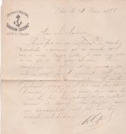 LETTRE PHARMACIE MARITIME A ARES (gironde) En 1886! - Frankrijk