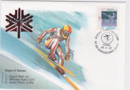 Canada Cover 1988 Olympic Games Calgary - Super-G Damen (EB1-49) - Winter 1988: Calgary
