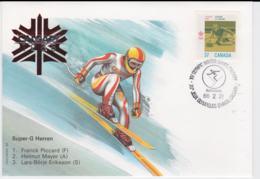 Canada Cover 1988 Olympic Games Calgary - Super-G Herren (EB1-49) - Winter 1988: Calgary