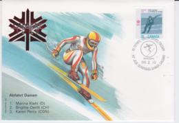 Canada Cover 1988 Olympic Games Calgary - Abfahrt Damen  (EB1-49) - Winter 1988: Calgary