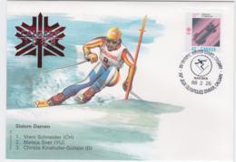 Canada Cover 1988 Olympic Games Calgary - Slalom Damen  (EB1-49) - Winter 1988: Calgary