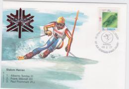 Canada Cover 1988 Olympic Games Calgary - Slalom Herren  (EB1-49) - Winter 1988: Calgary