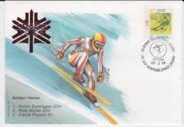 Canada Cover 1988 Olympic Games Calgary - Abfahrt Herren  (EB1-49) - Winter 1988: Calgary