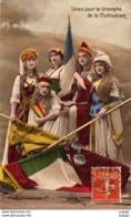 """GUERRE 1914-18  """"Unies Pour Le Triomphe De La Civilisation"""". Carte écrite En 1915   2 Scans - Patriottiche"""