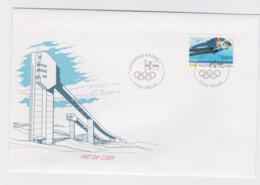 Finland FDC 1988 Olympic Games Calgary    (EB1-49) - Winter 1988: Calgary