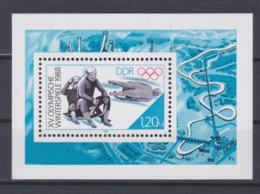 DDR 1988 Olympic Games Calgary  - Souvenir Sheet MNH/**   (H43) - Winter 1988: Calgary