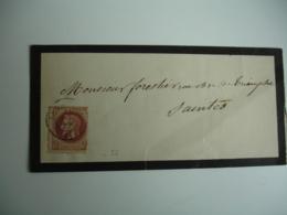 Timbre 2 C Marron Empire Francais Marron Seul Sur Bande Journal - Marcophilie (Lettres)