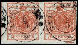 1850, Nr. 3 Paar, Balken, Signiert , Selt Stp.  SEISSENBERG  - Krain, A2329 - 1850-1918 Empire