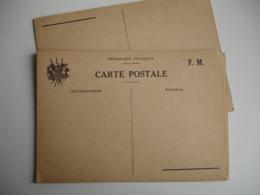 Lot De 9 Carte Franchise Postale Militaire Guerre 39.45 Drapeau Coin Gauche - Guerra De 1939-45