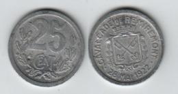 REMIREMONT  ; 25c ; 28 Mai 1922 ; Cavalcade ;  25 Cent. - Monétaires / De Nécessité