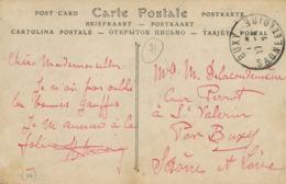 CP Envoi à Delacoudemène à St Vallerin Par Buxy Saone Et Loire . CP Camp Auvours  . Tentes - Autres Communes