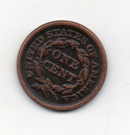 USA : 1 Cent 1845 - 1840-1857: Braided Hair (Capelli Intrecciati)