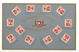 22614 - Le Langage Des Timbres Carte En Relief - Sonstige
