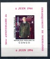 Thème Général De Gaulle - Congo Yvert BF 477 Surcharge 50e Anniversaire - Neuf XXX - Lot 198 - De Gaulle (General)